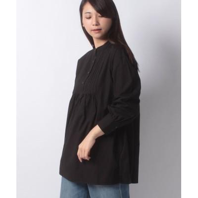 (Te chichi/テチチ)【Lugnoncure】ピンタックブラウス LS/レディース ブラック
