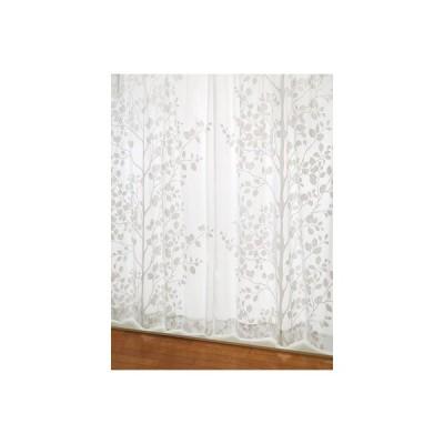 レースカーテン 北欧 大きな木立柄カーテン アイボリー S 1枚/100サイズ/OUL0907