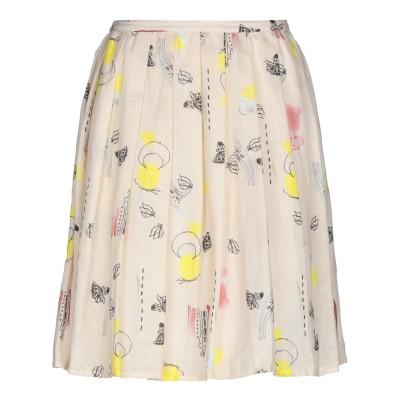 マニラ グレース MANILA GRACE ひざ丈スカート ベージュ 42 麻 57% / コットン 43% ひざ丈スカート