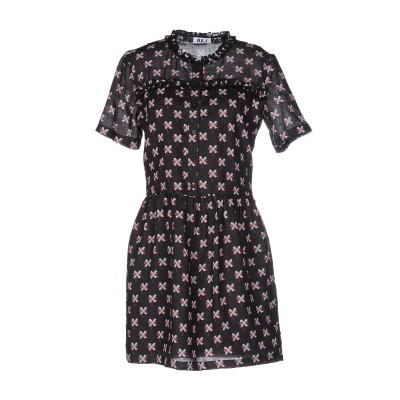 オージュールルジュール AU JOUR LE JOUR ミニワンピース&ドレス ブラック 40 100% レーヨン ミニワンピース&ドレス