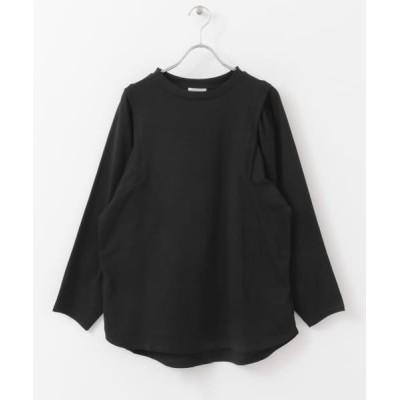 【アイテムズ アーバンリサーチ】 カタタックルーズTシャツ レディース ブラック FREE ITEMS URBANRESEARCH