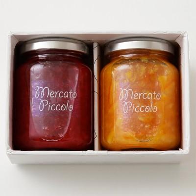 MERCATO PICCOLO メルカート ピッコロ  ALL国産 ブラッドオレンジマーマレード&あまおういちごジャム詰合せ