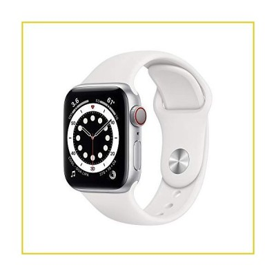 New Apple?Watch Series 6 (GPS + Cellular, 40mm) - Silver Aluminum Case with White Sport Band並行輸入品