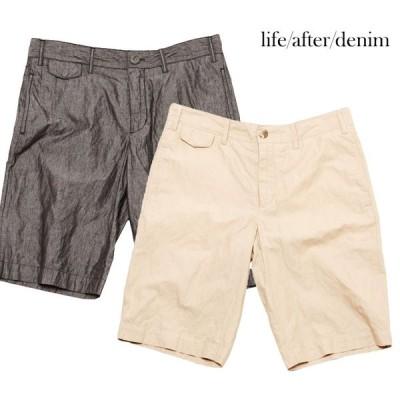 LIFE AFTER DENIM (ライフ アフター デニム) HUMORIST SHORTS (KHAKI/BLACK) ショーツ/コットン/カジュアル/マリン/MEN カーキー/ブラック
