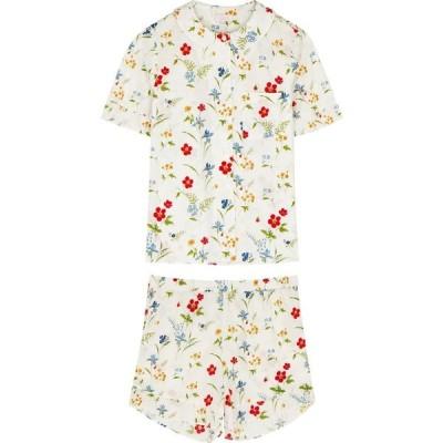 ヨーク YOLKE レディース パジャマ・上下セット インナー・下着 Thebe floral-print cotton pyjama set White