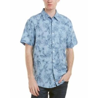 Maui  ファッション アウター Trunks Surf & Swim Co. Maui Linen-Blend Woven Shirt M Blue