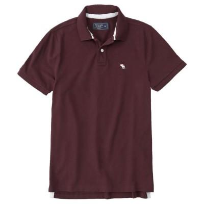 【並行輸入品】【メール便送料無料】アバクロンビー&フィッチ メンズ ポロシャツ ( 半袖 ) Abercrombie&Fitch Classic Stretch Polo (バーガンディー)