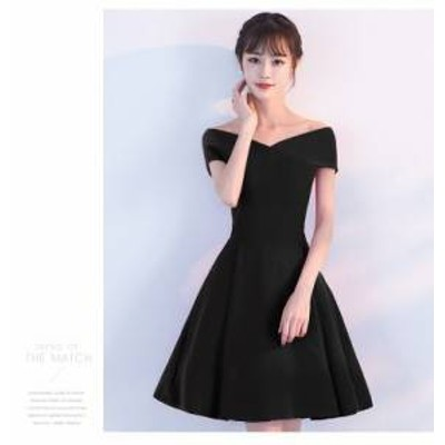 ドレス ワンピース ミニ丈 オフショルダー ブラック 20代 上品 エレガント きれいめ 春夏 結婚式 お呼ばれ a815
