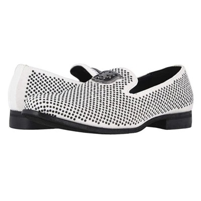 Stacy Adams Swagger Studded Ornament Loafer メンズ ローファー Black/White