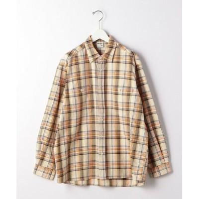 green label relaxing/グリーンレーベル リラクシング ★ 別注 [ ビッグマック ] BIG MAC GLR チェック シャツ OFF WHITE S