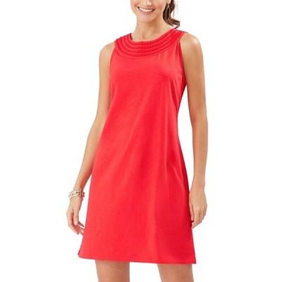 トッミーバハマ ワンピース トップス レディース Embroidered Shift Dress Red Cherry