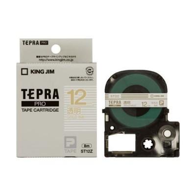 テプラ テプラPRO テープカートリッジ 透明ラベル/ST12Z 透明/金文字/テープ幅:12mm