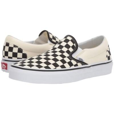 ヴァンズ Vans メンズ スリッポン・フラット シューズ・靴 Classic Slip-On(TM) Core Classics Black and White Checker/White (Canvas)