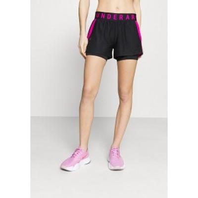 アンダーアーマー レディース カジュアルパンツ ボトムス PLAY UP 2 IN 1 SHORTS - Sports shorts - black black