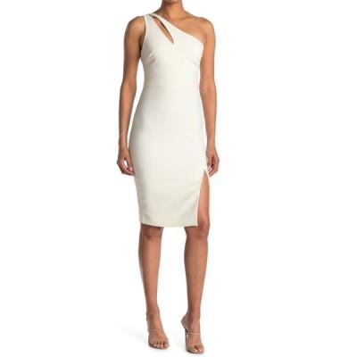 ライクリー レディース ワンピース トップス Lissette One Shoulder Sheath Dress WHT