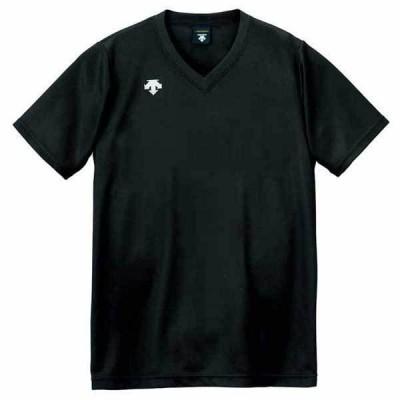 デサント 男女兼用 バレーボール V首半袖ゲームシャツ(BLK・150) DESCENTE DS-DSS4321-BLK-150 返品種別A
