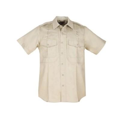 5.11 Tactical #71177 メンズ PDU半袖ツイルクラスBシャツ(シルバータン、ミディアムショート)