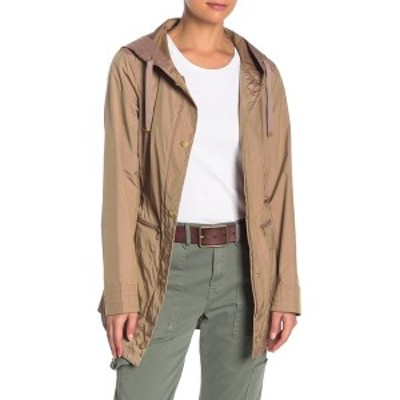 コールハーン レディース ジャケット&ブルゾン アウター Packable Hooded Jacket CHAMPAGNE