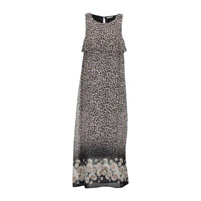 LUCKYLU  Milano ロングワンピース&ドレス ライトグレー 46 100% ポリエステル ロングワンピース&ドレス