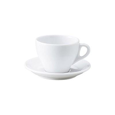 プリート ラテ・カップ&ソーサー 白い食器 レストラン カフェ 食器 業務用食器 日本製