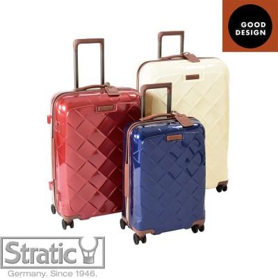 (Mサイズ 4輪/65L/3.43kg)Stratic(ストラティック)/「Leather & More」日本限定版 ハードスーツケース 中型(3-9902-65)|キャリーケース・キャリーバッグ ネイビーブルー