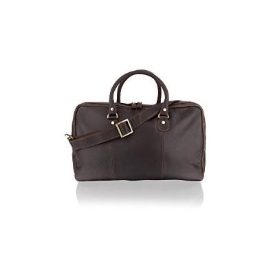"""Woodland Leather Brown Medium Travel Holdall 20.0"""" Multi Pocket Adjustable Shoulder Strap 並行輸入品"""