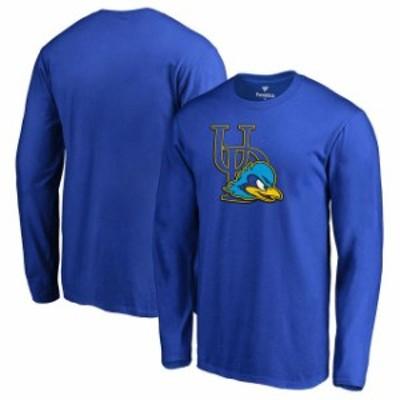 Fanatics Branded ファナティクス ブランド スポーツ用品  Fanatics Branded Delaware Fightin Blue Hens Royal Primary Team Logo Long