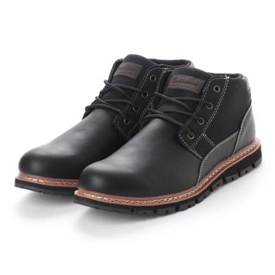 ブラッチャーノ Bracciano ブーツ メンズ 4cm防水プレーントゥーレースアップショートブーツ (BLACK)