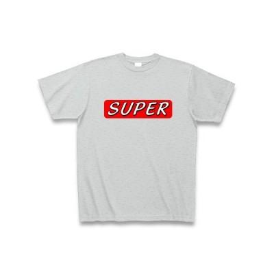 SUPER Tシャツ Pure Color Print(グレー)