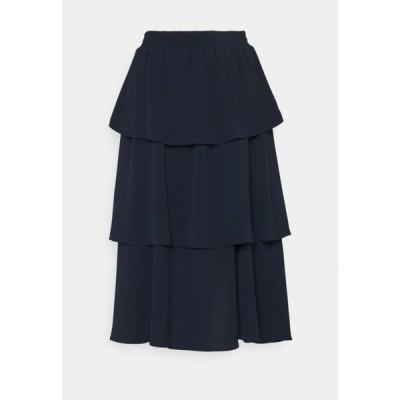 オンリー レディース ファッション ONLVIVI LAYERED SKIRT - A-line skirt - night sky