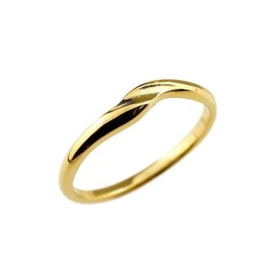 メンズ リング 指輪 ピンキーリング 地金リング イエローゴールドk18 18金 つや消し シンプル 宝石なしストレート 男性用 送料無料