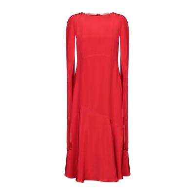 CALVIN KLEIN 205W39NYC 7分丈ワンピース・ドレス レッド 40 シルク 100% 7分丈ワンピース・ドレス