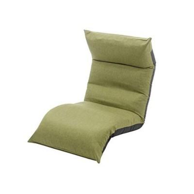 セルタン 日本製 高反発 座椅子 和楽の月 LIGHT 上下タイプ タスクグリーン 頭部脚部リクライニング A972a-583GRN