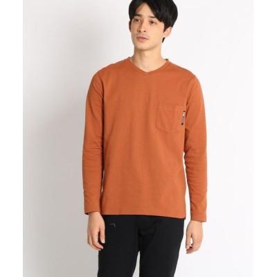 BASE STATION/ベースステーション 長袖 Tシャツ Vネック WEB限定 オレンジ(067) 01(S)