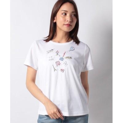 【キャラ・オ・クルス】 トラベルTシャツ レディース オフホワイト 11 CARA O CRUZ