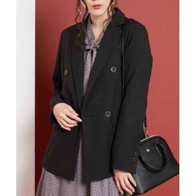 OFUON / 【洗濯機で洗える】オーバーサイズダブルジャケット WOMEN ジャケット/アウター > テーラードジャケット