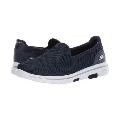 SKECHERS Performance スケッチャーズ レディース 女性用 シューズ 靴 スニーカー 運動靴 Go Walk 5 - 15901 - Navy/White