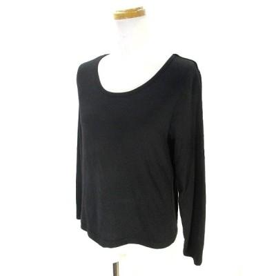 【中古】BEGUM Tシャツ カットソー 長袖 クルーネック 無地 黒 ブラック L メンズ 【ベクトル 古着】