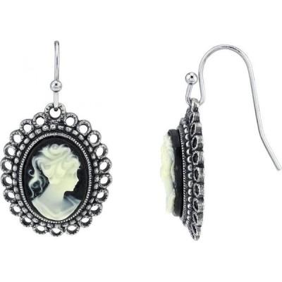 ダウントン アビー Downton Abbey レディース イヤリング・ピアス ドロップピアス ジュエリー・アクセサリー Oval Cameo Wire Drop Earrings Black