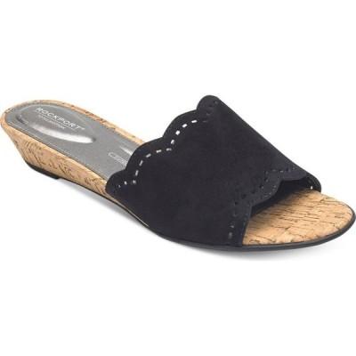 ロックポート Rockport レディース サンダル・ミュール シューズ・靴 Total Motion Zandra Slide Sandals Black