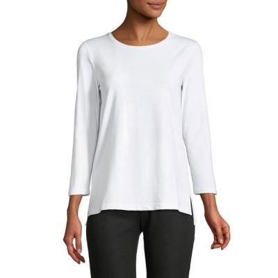 ラファイエットワンフォーエイト レディース Tシャツ トップス 3/4-Sleeve Dropped-Hem T-Shirt