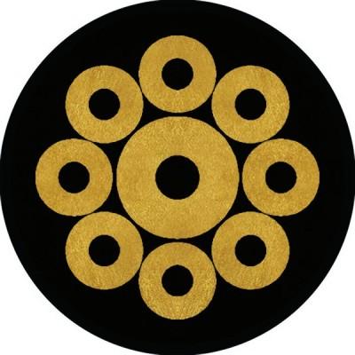 家紋シール 蛇の目九曜紋 直径4cm 丸型 4枚セット KS44M-1826