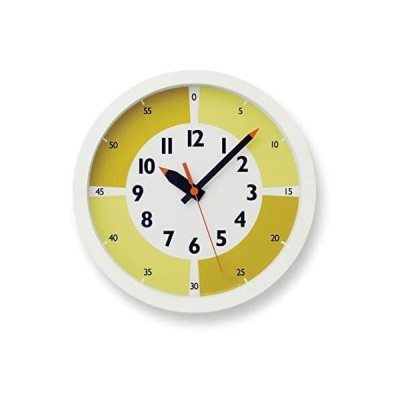 レムノス 掛け時計 ふんぷんクロック ウィズ カラー  アナログ 黄 YD15-01 YE キッズ 知育 Lemnos