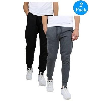 ギャラクシーバイハルビック カジュアルパンツ ボトムス メンズ Men's 2-Packs Slim-Fit Fleece Jogger Sweatpants Black/Charcoal