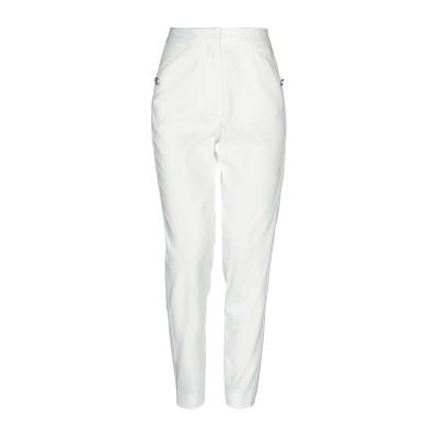 ジャストカヴァリ JUST CAVALLI パンツ ホワイト 40 ポリエステル 52% / ナイロン 42% / ポリウレタン 6% / 真鍮/ブ