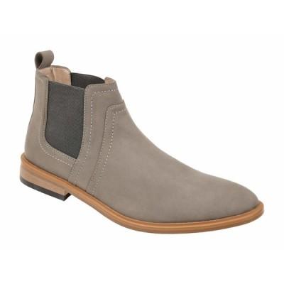 ヴァンセ カンパニー ブーツ&レインブーツ シューズ メンズ Durant Chelsea Boot Grey Faux Leather