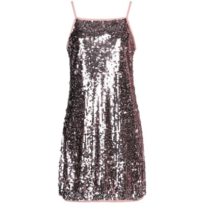 KAOS JEANS ミニワンピース&ドレス ピンク 40 ポリエステル 100% ミニワンピース&ドレス