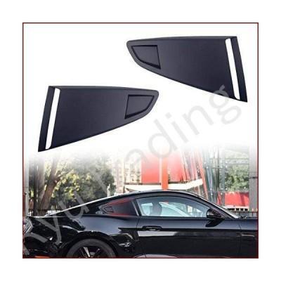 新品RKRLJX Side Vent Window Louvers Black Plastic 1Pair Car Window Quarter Rear Louver Side Vent Scoop Cover Rear Side Window Louver Fit f