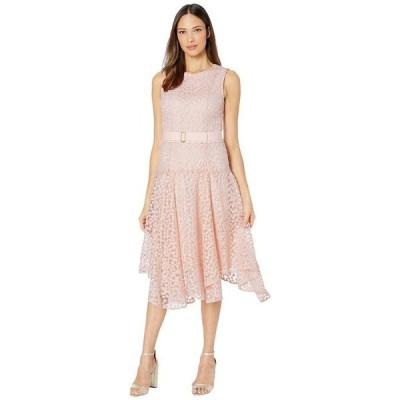 カルバンクライン レディース ワンピース トップス Floral Embroidered Handkerchief Dress