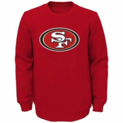 Outerstuff アウタースタッフ スポーツ用品  San Francisco 49ers Youth Scarlet Prime Fleece Crew Pullover Sweatshirt